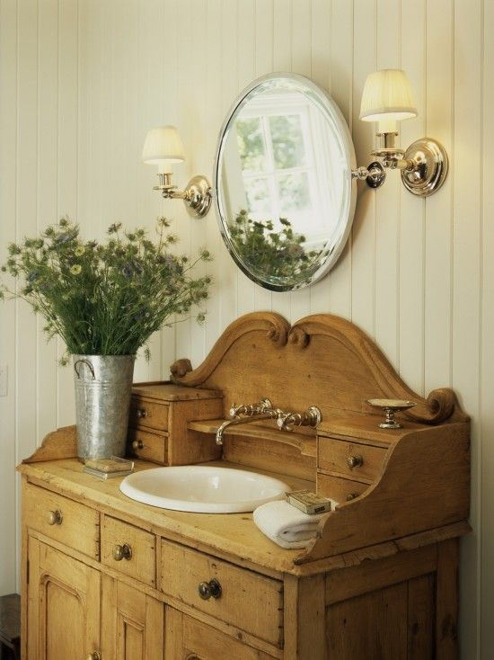 Bathroom Double Vanity Antique Design, Pictures, Remodel