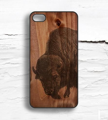 Disaster prevention rarely looks so fly. This iPhone 5 case is made from aluminum and plastic with a hand-drawn brown buffalo on wood pattern print.