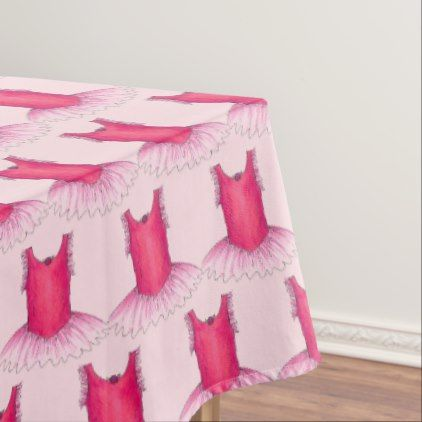 Ballet Tutu Ballerina Dance Costume Pretty Pink Tablecloth - pink gifts style ideas cyo unique