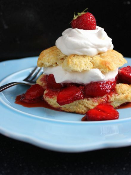 Homemade Strawberry Shortcakes from Small Kitchen Chronicles