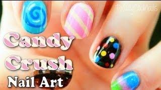 Candy Crush Inspired Nail Art