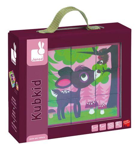 PUZLE DE CUBOS ANIMALES DEL BOSQUE 6 ilustraciones de animalitos del bosque. 9 cubos de cartón. Recomendado para más de 18 meses. Diseñado en Francia. Medidas aproximadas: 19,7x22,5x6 cm Materiales: Cartón Edad recomendada: A partir de 1 año PVP: 13,90 € #puzzlebebe #juguetesbebe http://www.babycaprichos.com/puzzle-de-cubos-animales-del-bosque.html