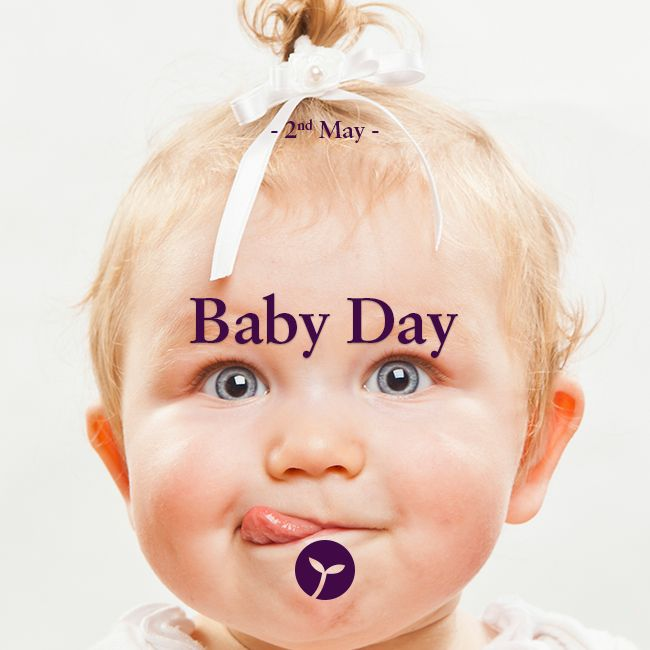 Baby Day takes place on May 02, 2015. As the name suggests, it celebrates babies.   Mark Baby Day in your calendar, and use it to cherish the babies you may have in your life!  #bizarre #unique #holiday #holidays #sprout #freedomtogrow #babyday #baby