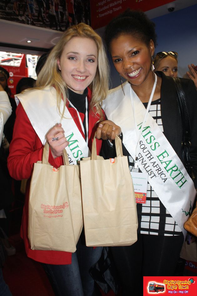 Miss Earth Finalists 2014 on the City Sightseeing Bus. http://citysightseeing-blog.co.za/2014/08/11/plant-a-seed-then-help-it-grow-cape-town/