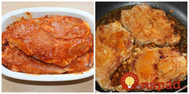 Ak chystáte mäsko na minútkovú úpravu, odporúčame vám túto skvelú marinádu. Je celkom jednoduchá na prípravu a mäsko skvele ochutí. Mäso môžete nechať marinovať podľa toho, koľko máte času – pár minút. Hodinu alebo cez noc. Samozrejme, čím dlhšie necháte marinovať, tým bude mäsko chutnejšie. Potrebujeme: 4 plátky bravčového mäsa (krkovička, karé,stehno…) 4 lyžice olivového...