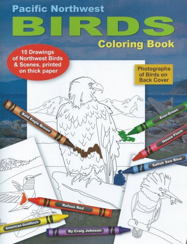 Pacific Northwest Birds Coloring Book
