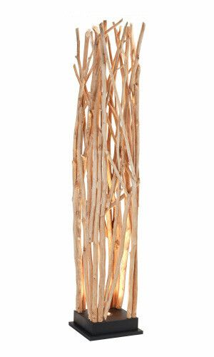 "Lampadaire ""Woodstock"" LED Now's Home en bois de longan - beige et marron - 31…"