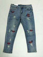 New Fashion Personality Ladies denim jeans with lips embroidered Best Buy follow this link http://shopingayo.space