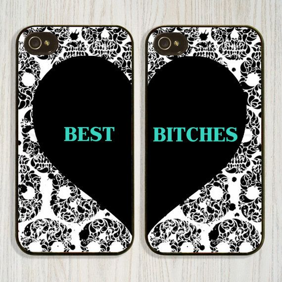 Personalized Monogrammed Best Friend Bitches Skulls by CellShells, $19.99