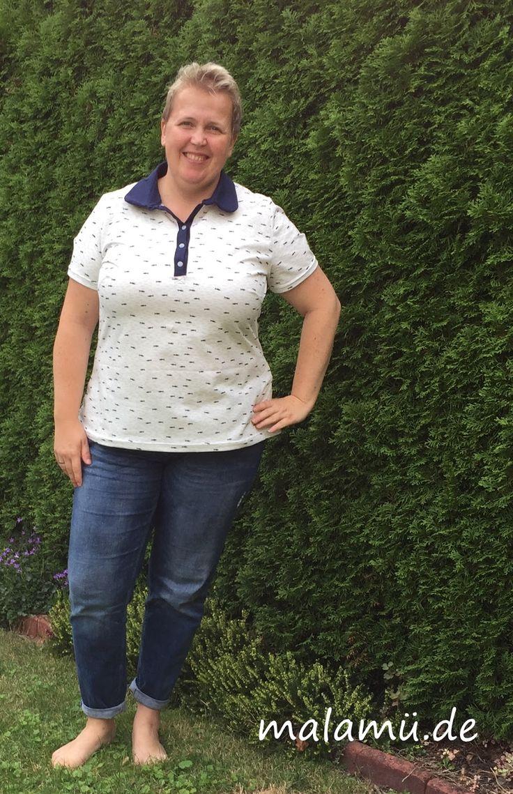 Gut sitzendes Damen Poloshirt - selbstgenäht in großer Größer (Maliska)