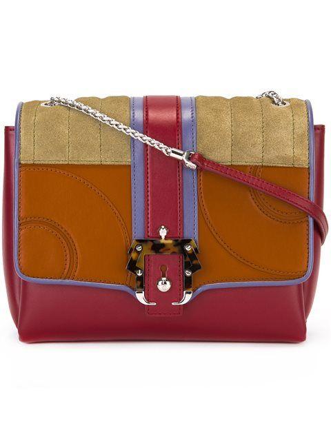 PAULA CADEMARTORI Buckled Shoulder Bag. #paulacademartori #bags #shoulder bags #leather #