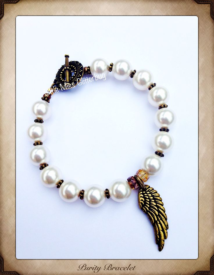 Purity Angel bracelet  LittleMissGlitterbug on Facebook