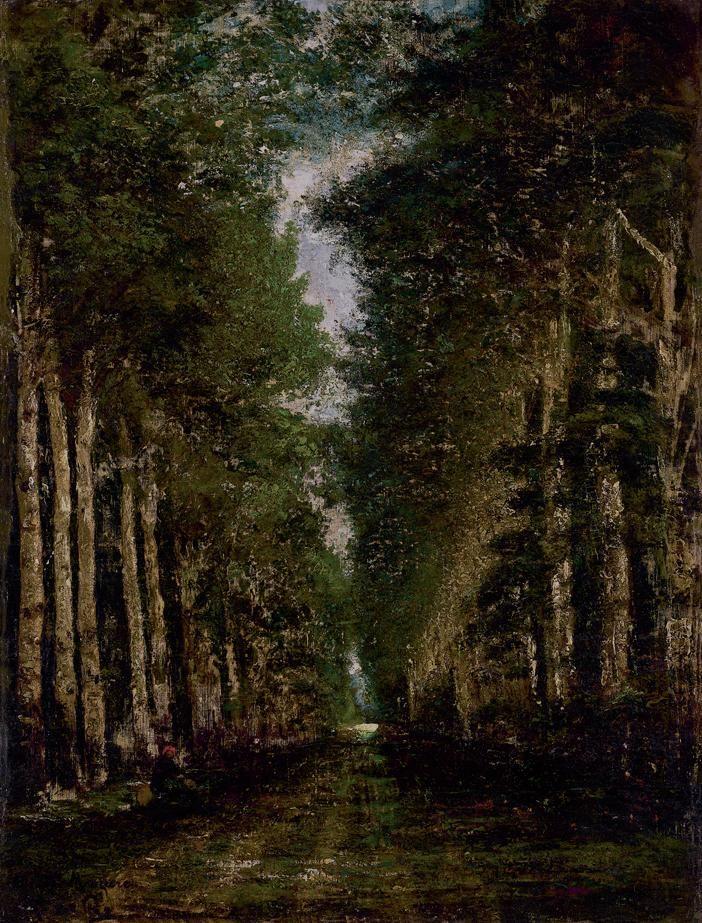 Paál László , Erdei út eső után , 1875 körül, Olaj, Vászon