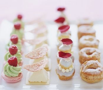 delicate and colorful pastries