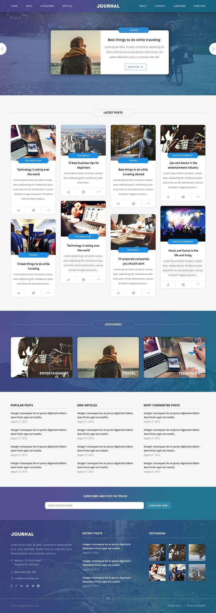 131 best Website Templates images on Pinterest | Website template ...
