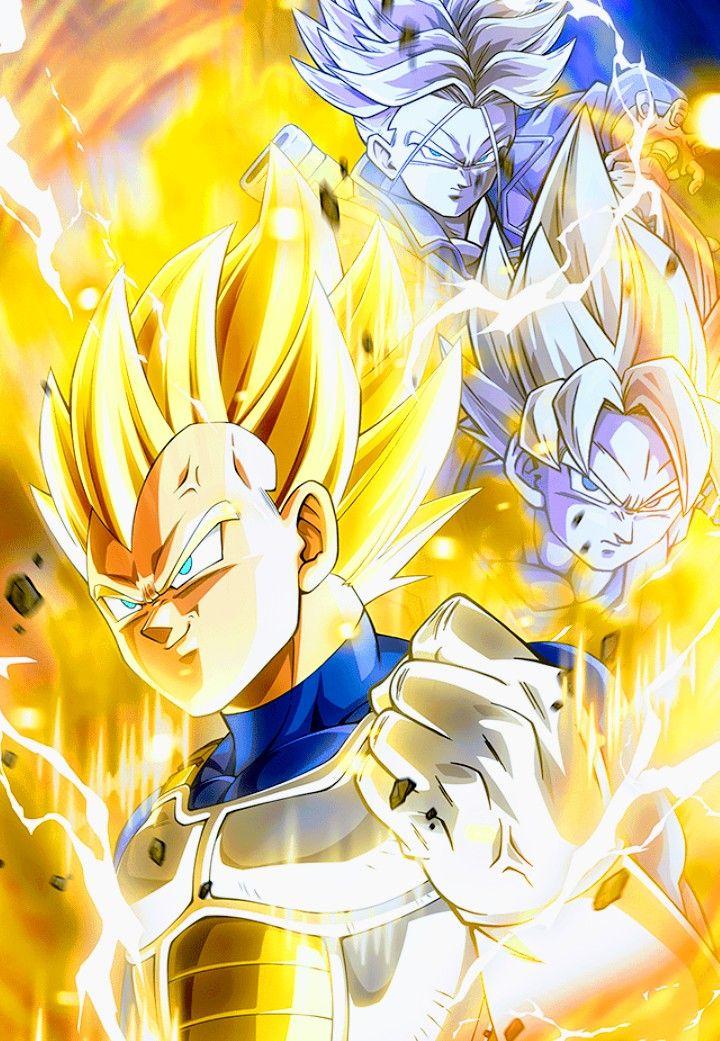 Goku Vegeta Trunks Super Saiyan Dragon Ball Z Dragon Ball Artwork Dragon Ball Art Dragon Ball Wallpapers