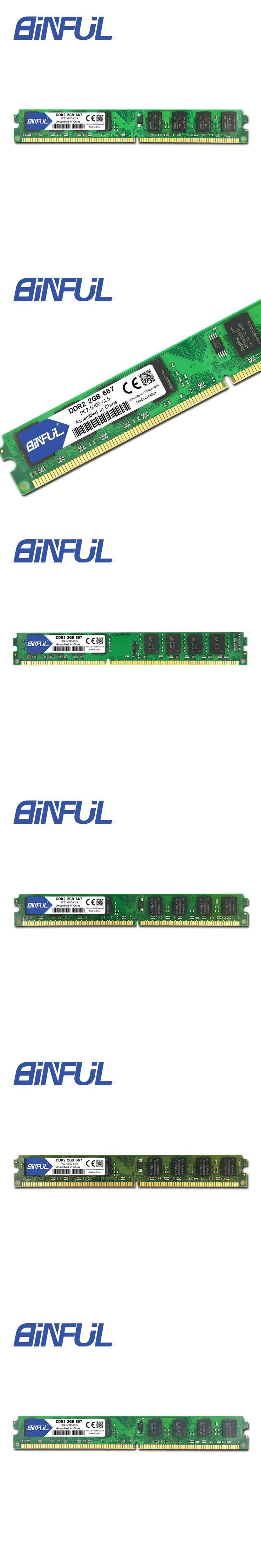 Binful Original Brand New Sealed DDR2 667Mhz PC2-5300 for Desktop RAM Memory / Free Shipping