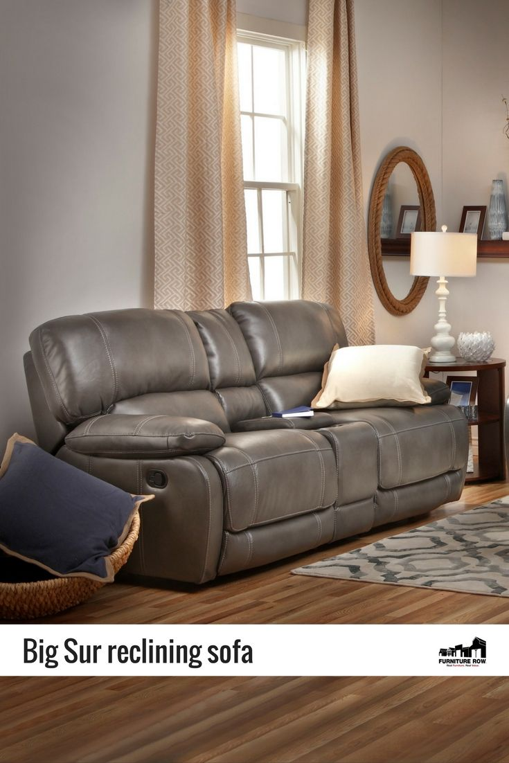 Big Sur Reclining Sofa: Get The Look Of Leather In A Durable, Breathable,