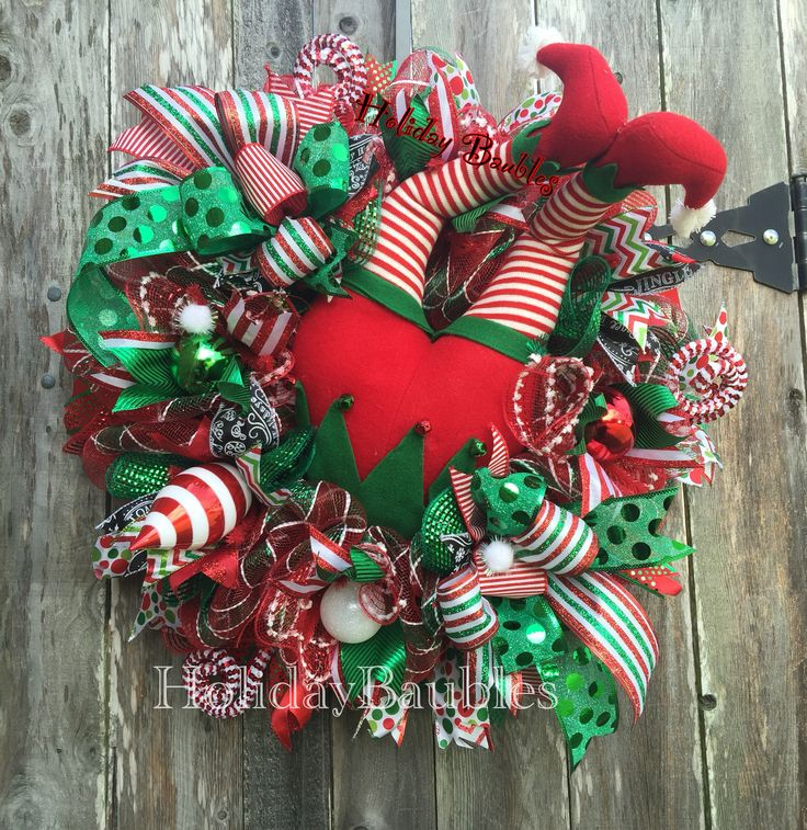 Elf Rear Wreath  by Holiday Baubles on Facebook