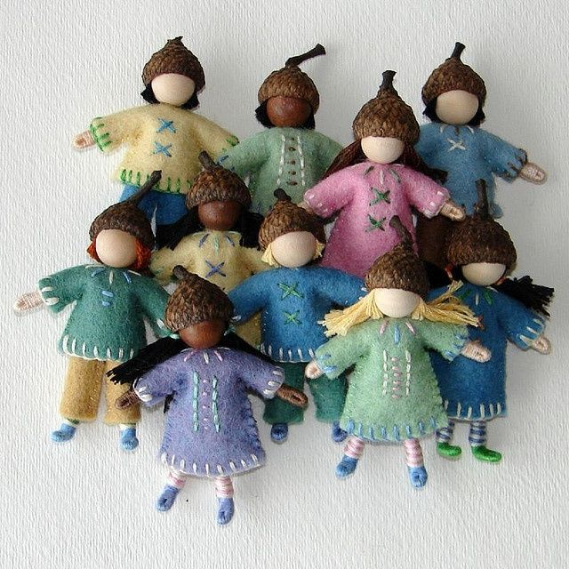 wool acorn people - Google Search