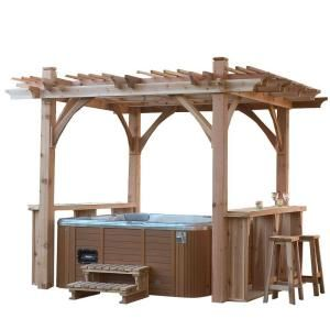 Love the bar on each side if this pergola.  11 ft. x 9 ft. Spa Breeze Shelter-BZS119 at The Home Depot