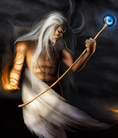 """The Dagda is the Father of the Gods, sometimes called """"The All-Father"""". He represents man when he has grown old and wise. The Dagda is the god of wisdom, knowledge, magic, and rebirth. He holds the secrets of the world, and shares them only with those he has deemed worthy. The Dagda possesses several unique items of special value, including a cauldron with an inexhaustible supply of food, a magical harp which summons the seasons two swine – one always roasting the other always growing, and…"""