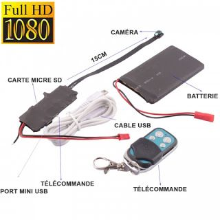 Camera espion SP full HD multifonctionnelle avec Détecteur de Mouvement CM