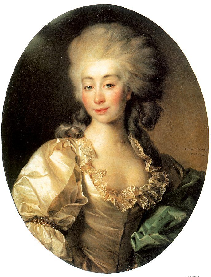 Portrait of Ursula Mniszech - Dmitry Levitzky (1782)