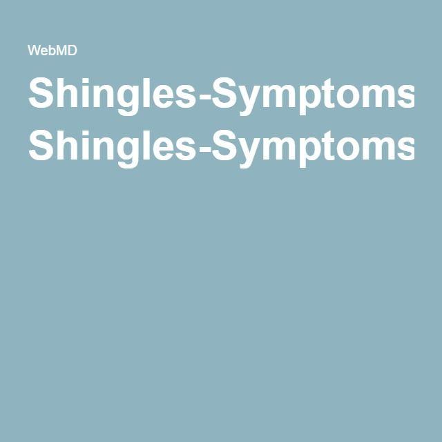 Shingles-Symptoms