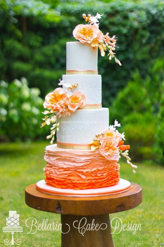 wedding cake with orange flowers 17 best images about cakes rufles and ombre on 26931