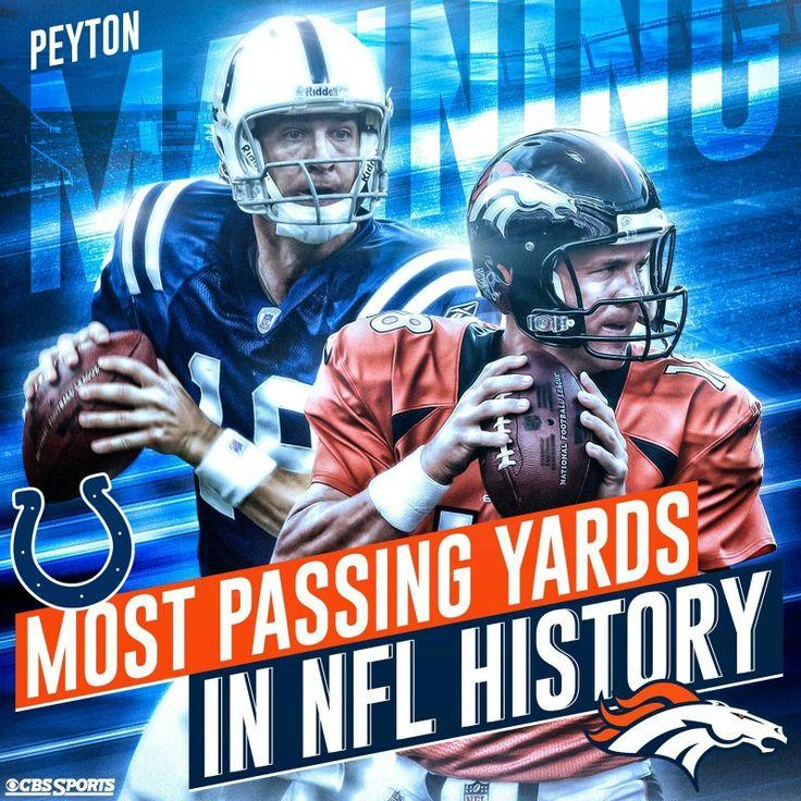 Peyton Manning, most passing yards
