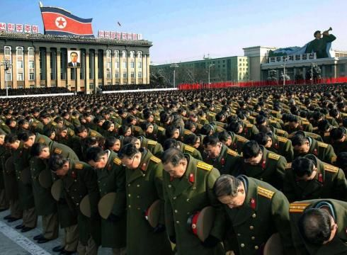 Religion: In North Korea, the people pray to their leaders. Since the 1950's, Kim Jong Un's past family has wanted to portray as a god.