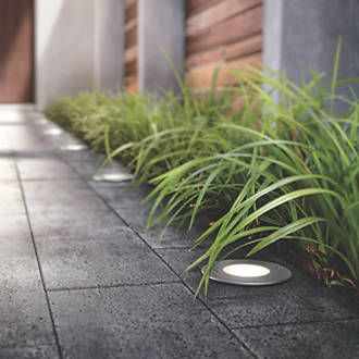 Order online at Screwfix.com. Decorative outdoor lighting with high power LED lamps. Define the boundaries of your outside space with this solid ground light. Made from high quality aluminium and casts powerful warm white light, ideal for paths or driveways. FREE next day delivery available, free collection in 5 minutes.