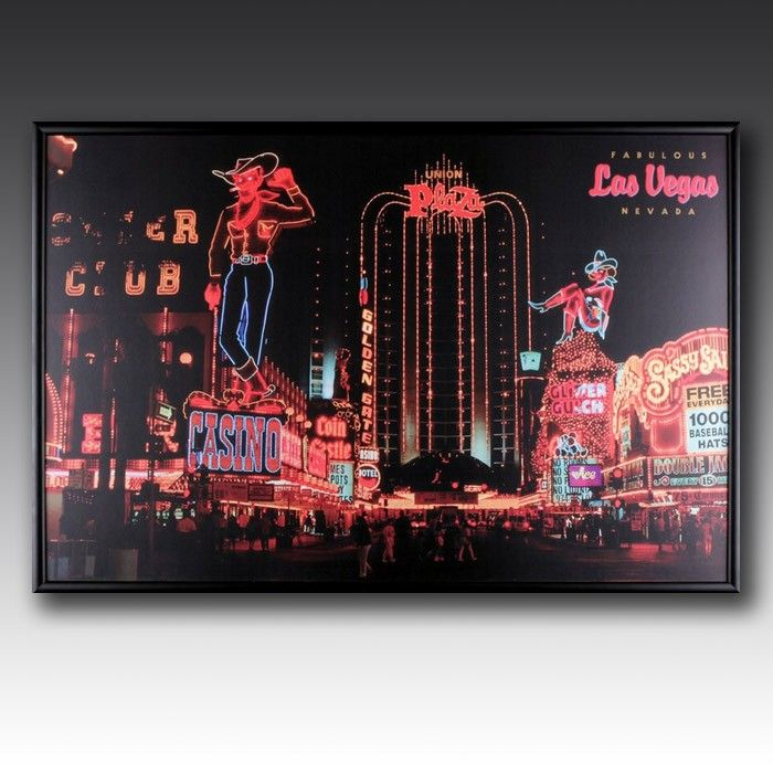 The world famous Vegas strip is brought to life with LED lighting, adding some fun to your walls