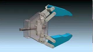 Robot Gripper Mechanism in SolidWorks 2012 - YouTube