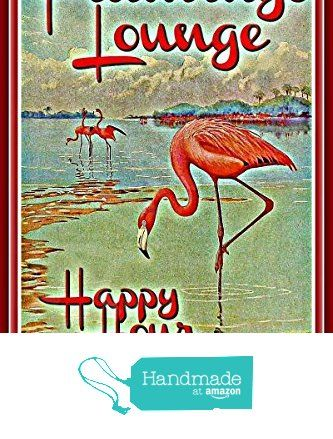 "Tiki Bar Sign Flamingo Lounge 8""x12"" Made In Hawaii USA All Weather Metal. Perfect For Your Man Cave Lounge Beer Happy Hour Pool Island Décor Margaritaville from Alotaloha! https://smile.amazon.com/dp/B01IJCMT0O/ref=hnd_sw_r_pi_dp_TAHjybA1C06F4 #handmadeatamazon"