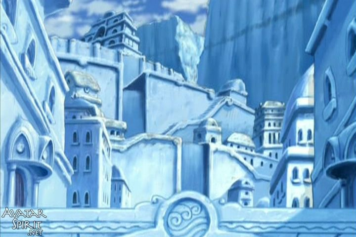 Northern Water Tribe Buildings at the North Pole where Princess Yue lives in Avatar: the Last Airbender