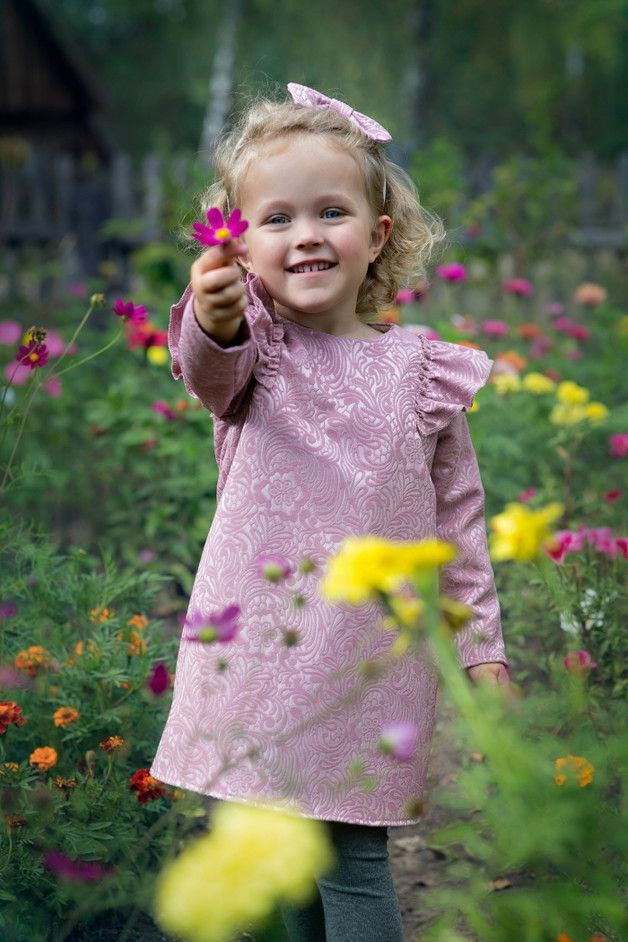 Sukienka żakardowa La Joie - Pralines - Sukienki dla dziewczynek
