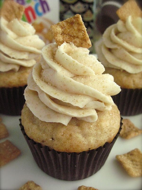 Cinnamon Toast Cupcakes (1 of the Top Recipes in 2012 @ Your Cup of Cake.com - fantastic website for ALL things 'cake' including recipes, decorating tips, tricks & how-tos, business tips , etc. )