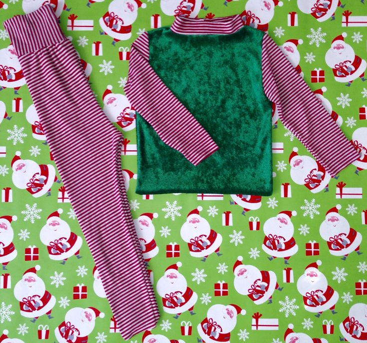 Excited to share the latest addition to my #etsy shop: Turtle neck  long sleeve  Toddler & infant elf pajama set