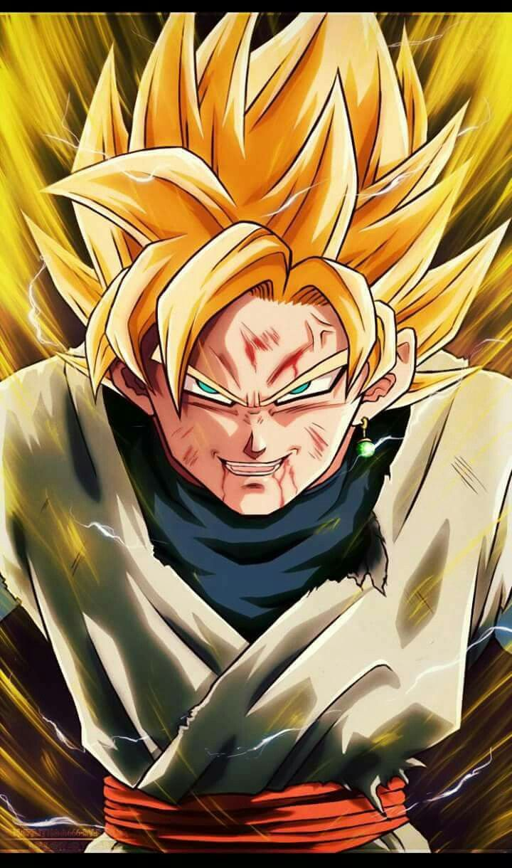Super Saiyan Goku Black. Yes, this happened in the Manga, and I love it.