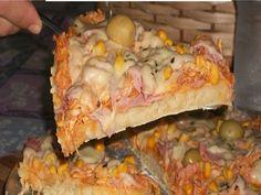 Receita de Pizza de liquidificador fácil e rápida - Tudo Gostoso