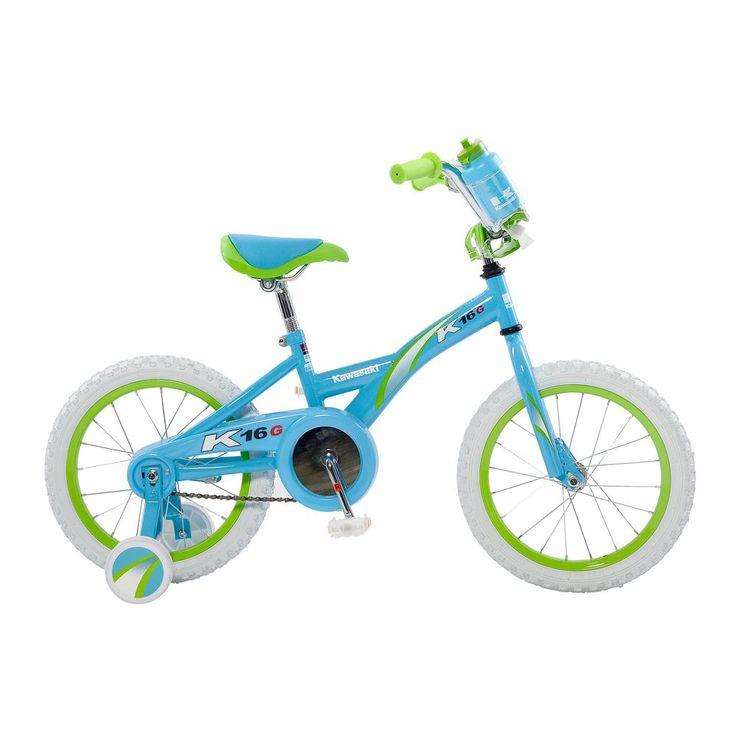 Monocoque Kid's Bike, 16 in. Wheels, 11 in. Frame, Girl's Bike in Blue, Blues