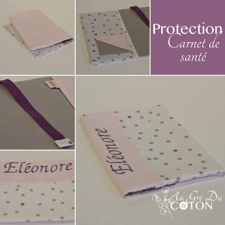Housse de protection pour carnet de santé #carnetdesanté  Dimensions : 16cm x 21,5cm Tissus : Cotons  Vous pouvez retrouver cet article sur la boutique en ligne : http://augreducoton.fr/boutique/accessoires/protege-carnet-sante/