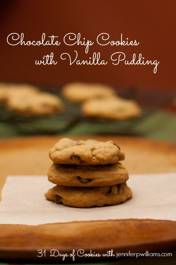 Chocolate Chip Cookies with Vanilla Pudding - This recipe makes the softest, yummiest, melt in your mouth chocolate chip cookies you'll ever eat.