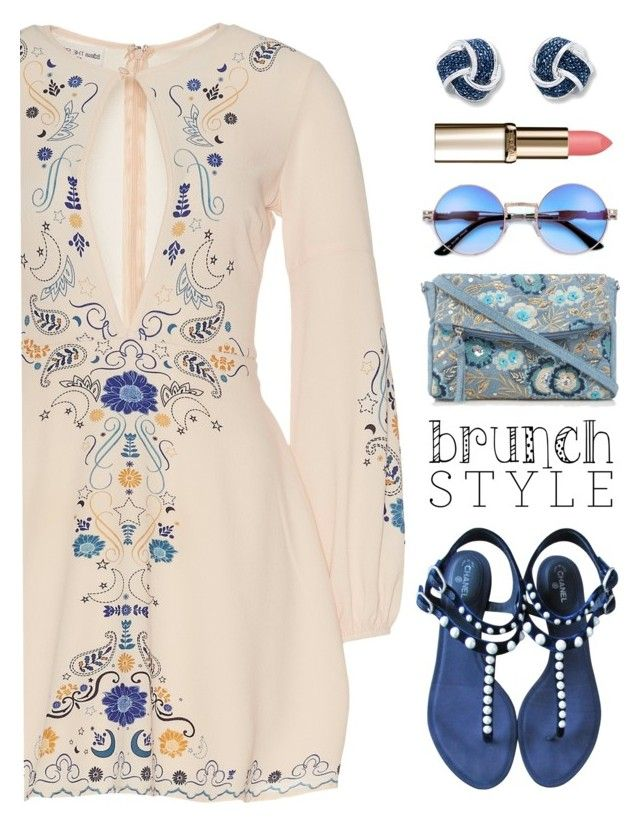 """brunch with mom"" by katymill ❤ liked on Polyvore featuring Chanel, Mantaray, topsets, topset, brunchgoals and buflie"