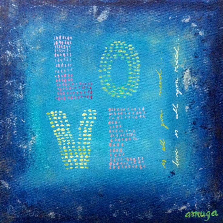 """""""Needs"""" ANDREA MUGA Acrylic on canvas 30x30cm 45.000 CLP #art #beatles #acrylic"""