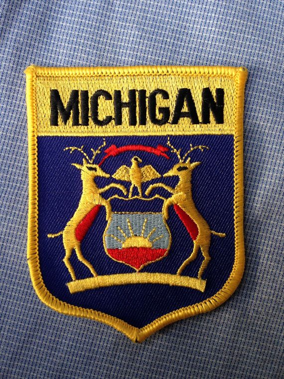 Michigan Flag Souvenir Travel Patch by HeydayRetroMart on Etsy