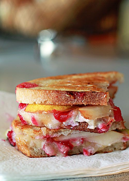 Brie grilled cheeses, Brie and Pears on Pinterest