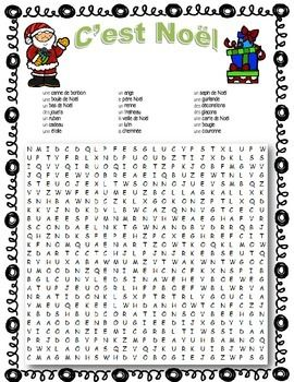Students will be excited to practice their French Christmas vocabulary with this adorable word search puzzle. 21 vocabulary words are included in this no-prep Crossword. Print and go!  Color and Black-line copies are included!  Enjoy!    Graphics by Creative Cips https://www.teacherspayteachers/Store/Krista-Wallden